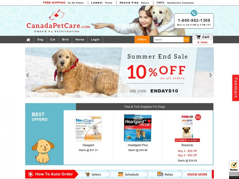 Canada Pet Care-Canada Pet Care-Top Offer Code-CPC12ON for 12% Extra Off on Online Advantage for Dogs