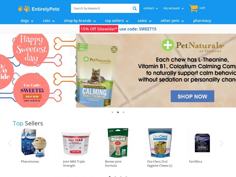 EntirelyPets-EntirelyPets-Offers.com Save $18 when you spend $150