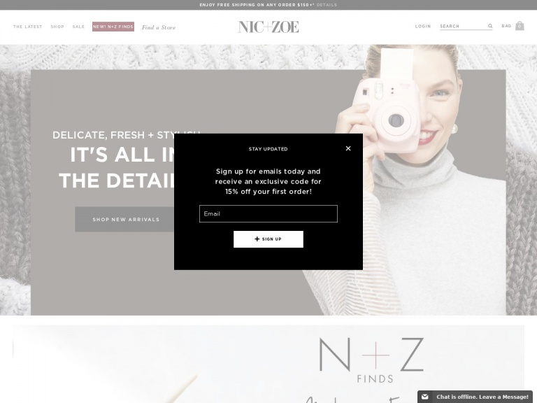 NIC ZOE-Get 30 – 40% Off and Free Shipping on Or…