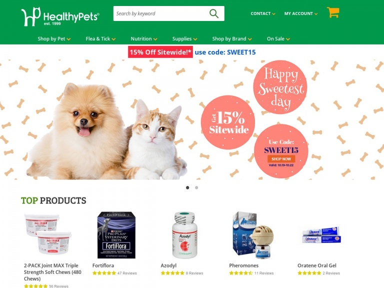 Healthy Pets-Memorial Day Sale – 16% Off Sitewide or Up to 80% Off Red Tag with Promo Code!