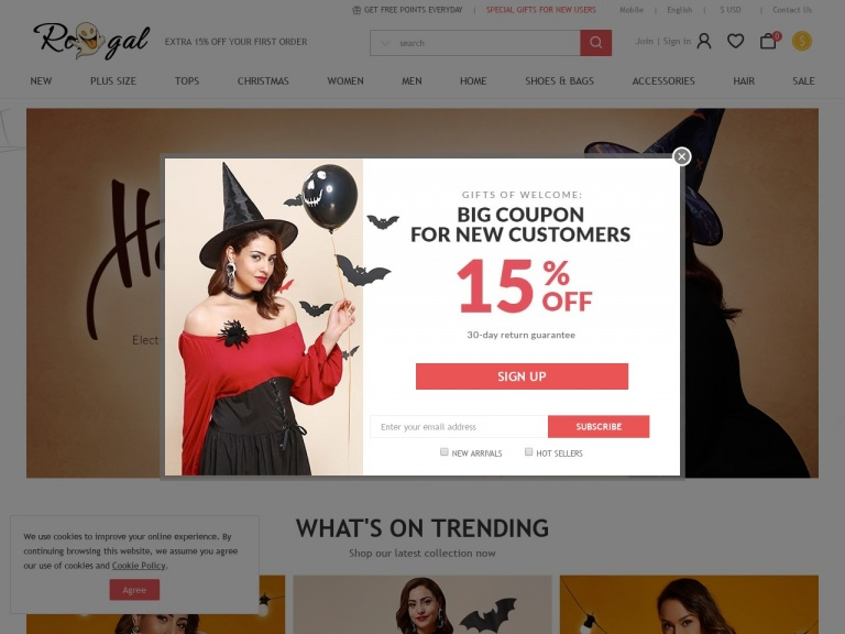 """Rosegal-RoseGal-Summer Styles: $3 OFF $30, $6 OFF $50 with Code """"rgsummer6"""" + Free Shipping"""