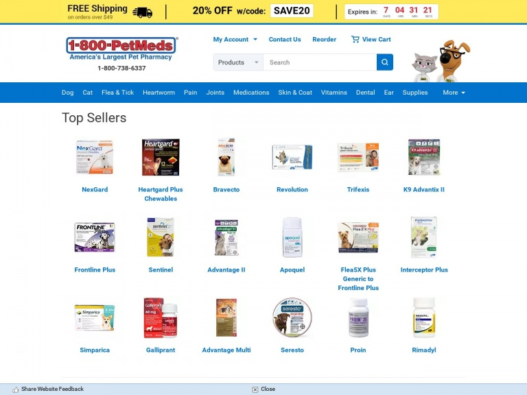 1-800-PetMeds-Save $12 Over Leading Dog Flea Products …