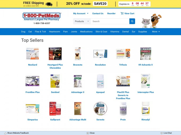 1-800-PetMeds-Save up to 25% when you get flea prevent…