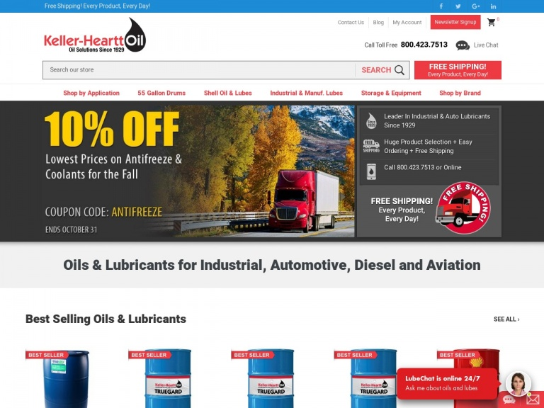 Keller-Heartt-Semi Truck Drivers! Lowest Price on DEF and Fleet Wash Plus Free Shipping!