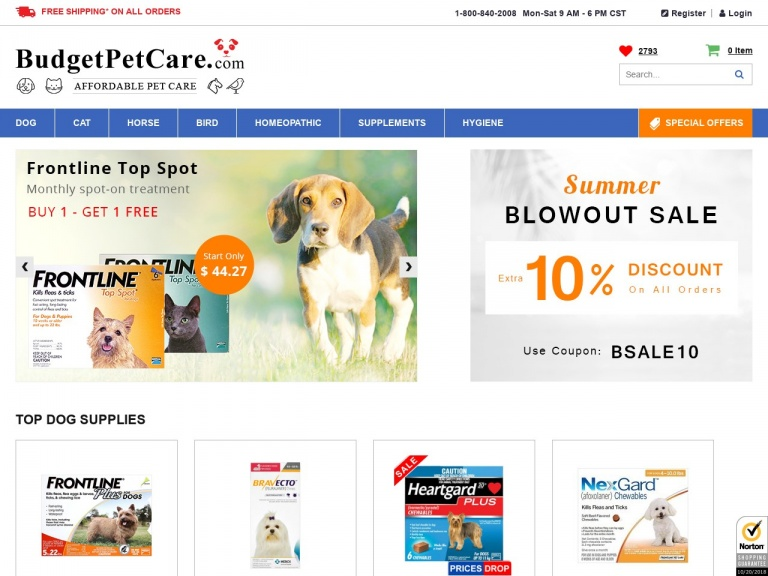 BudgetPetCare.com-Shop the Memorial Day Sale and Save Extra 7% Off Plus Free Shipping on Everything Across USA!