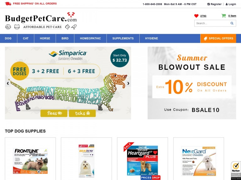 BudgetPetCare.com-Special Memorial Day Savings Start now! Avail 7% Extra Off and Free Shipping on Everything!