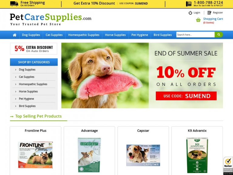 PetCareSupplies-Summer Vacation With Pets? Extra 12% Off Plus Free Shipping on All Pet Supplies!