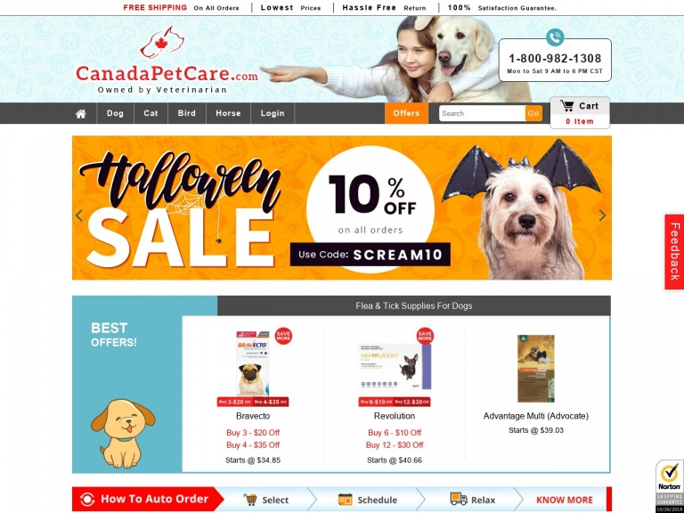 Canadapetcare-Top Offer Code-CPC12ON for 12% Extra Off…