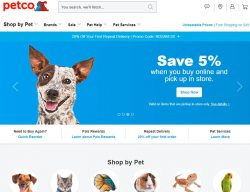 PETCO Animal Supplies-20% off + Free Shipping on orders of