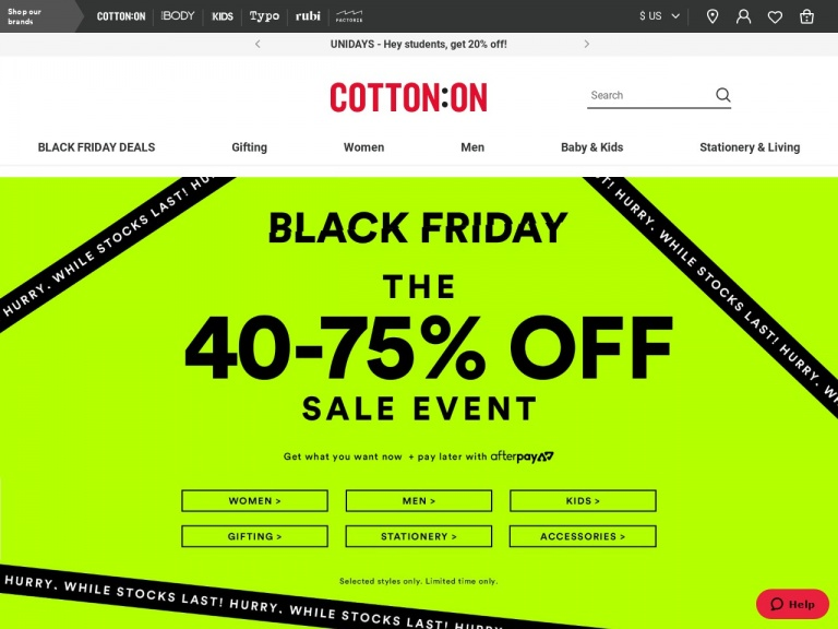 Cotton On (US)-SAVE UP TO 50% OFF! Everyone wants these…