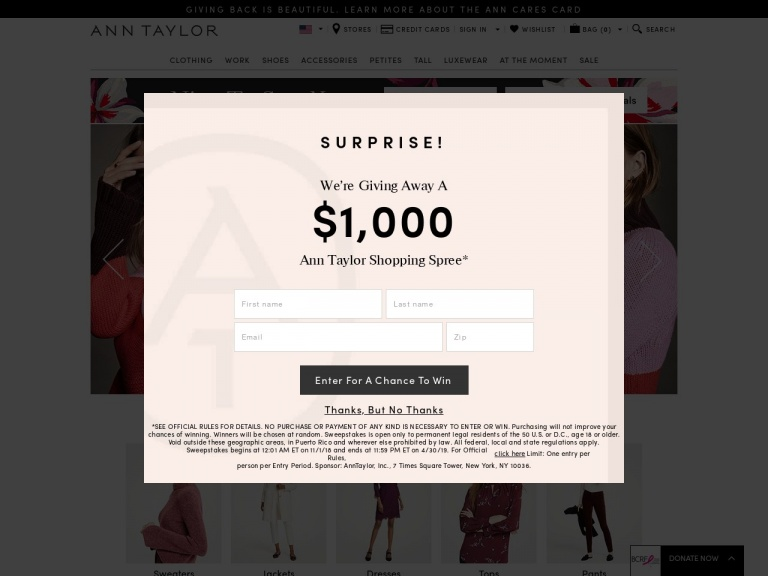 Ann Taylor-$8.95 Flat Rate Shipping for Orders Unde…