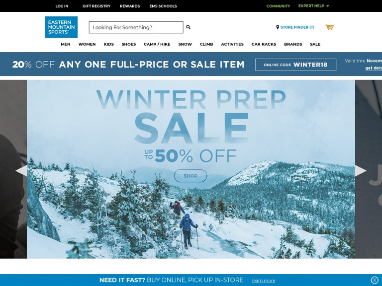 Eastern Mountain Sports-BLACK FRIDAY DOORBUSTERS: Get MASSIVE Savings on Quality Outdoor Gear and Apparel at Eastern Mountain Sports! Shop NOW and Save!