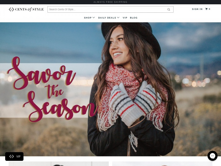 Cents of Style-Black Friday – 11/23/18 – FREE SWEATER with every purchase of $45.00 or more! + FREE Shipping w/code: BLACKFRIDAY