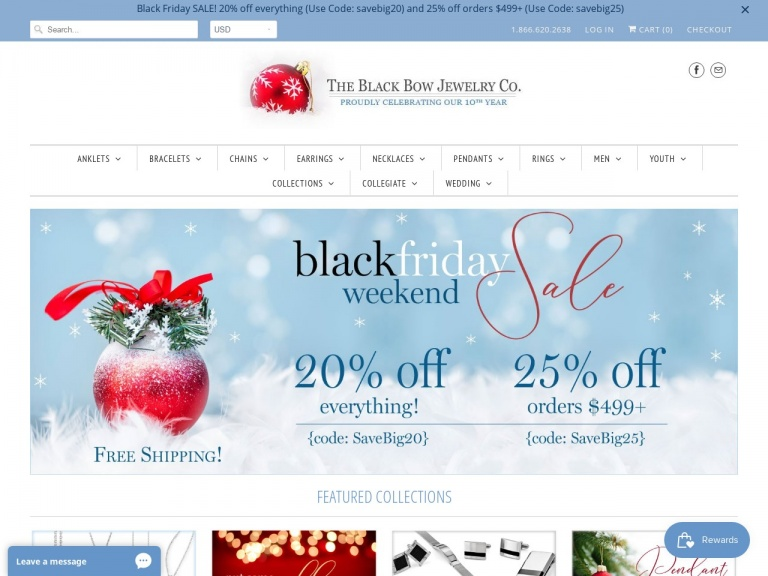 Black Bow Jewelry Co.-Black Friday Jewelry Sale – Save 25% on Orders over $499!