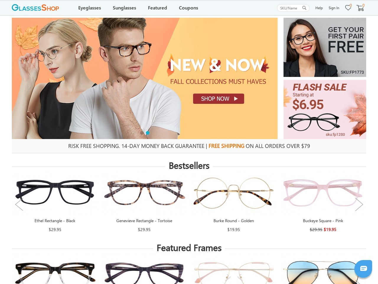GlassesShop.com-Cyber Monday Madness Sale at GlassesShop.com – BOGO Sale – Buy 1 pair, Get 1 Free with code GSBOGO – Offer Valid 11/16 – 11/30 only