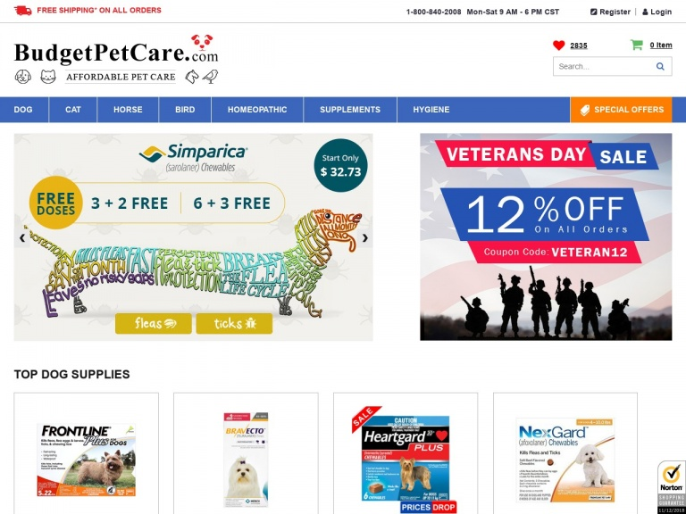 BudgetPetCare.com-Frontline Top Spot Blowout Sale: Buy 4 P…