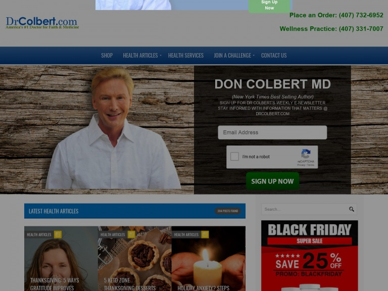 Dr. Colbert - Slowing Down the Aging Process-Keto Products Black Friday/Cyber Monday Sale! Save 25% OFF Site Wide
