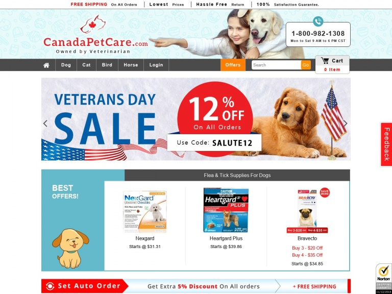 Canadapetcare-Lucky You! $30 Off on 12 Doses and $10 O…