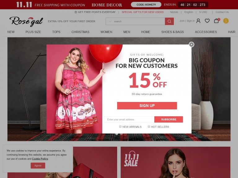 Rosegal-Rosegal- $2 OFF $20, $5 OFF $50 with Code quot;RGMAKEUP5quot; on Makeups + Free Shipping