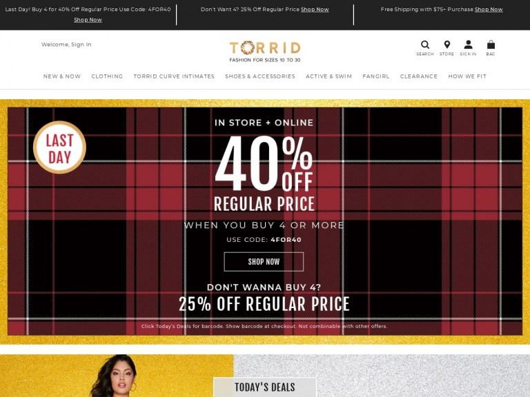 Torrid-Torrid-30% Off Fashion for Sizes 10-30 with code 30ForYou