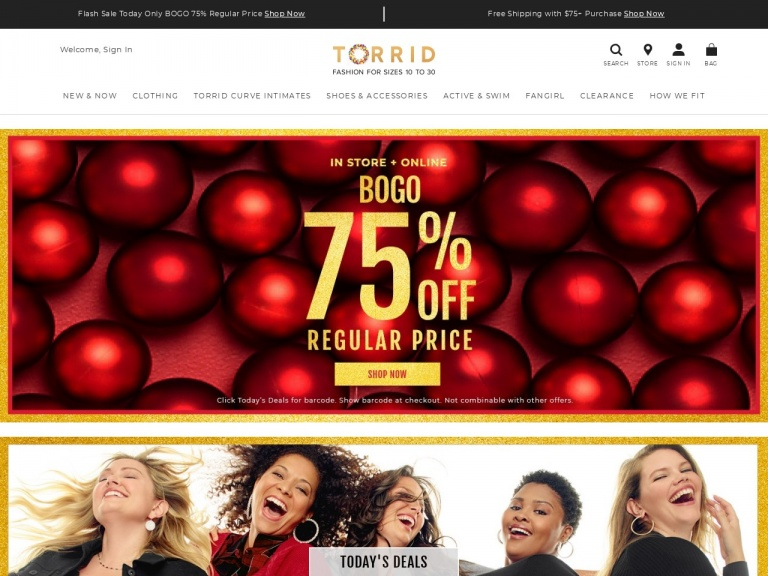 Torrid-Torrid Plus Size – Save Up To 50% Off Fashion Sizes 10-30