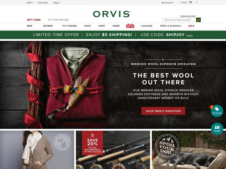Orvis-Limited-Time Offer. Enjoy $5 Shipping. U…