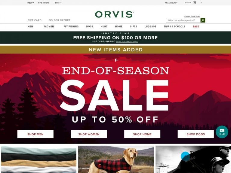 Orvis-End-Of-Season Sale. New Items Added. up …