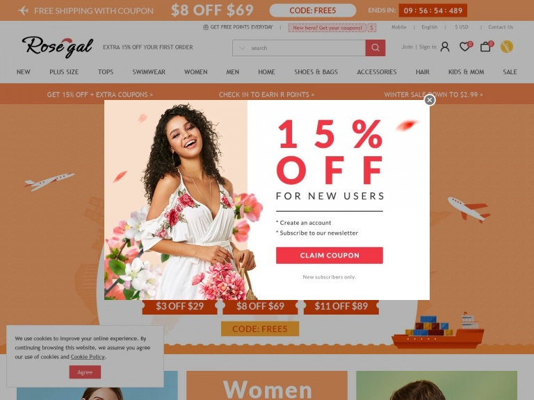 Rosegal-RoseGal-Extra Money Off! Up To $200 Off On Your Order