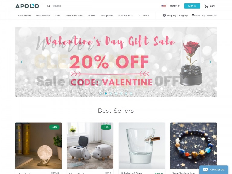 Apollo Box-Last Minute Valentine's Day Sale! Save 25% off valentine's gifts category at Apollo Box with code FEBLOVE (Valid 2/14. Excludes sale items)