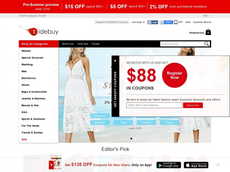 Tidebuy International-Free Shipping Over $89 Plus 50% Off Ship…