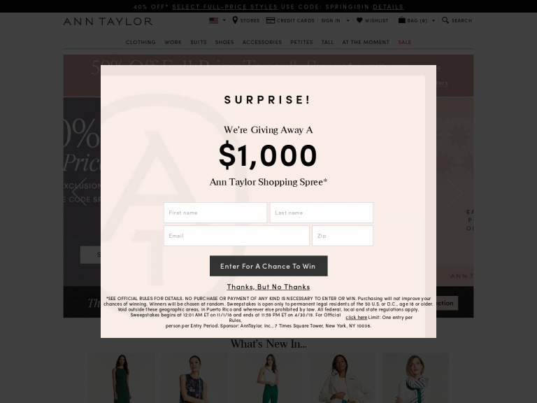 Ann Taylor-Ann Taylor-40% Off Full-Price Styles with Code: SPRINGISIN. Valid 4/4 at 12AM – 4/6 at 12AM!
