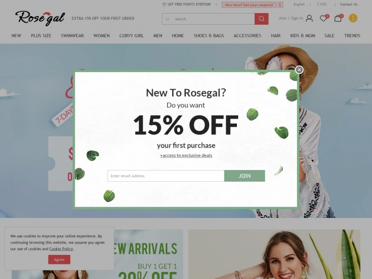 Rosegal-RoseGal-Extra Money Off Your Order Sitewide Easter Sale Up To $27