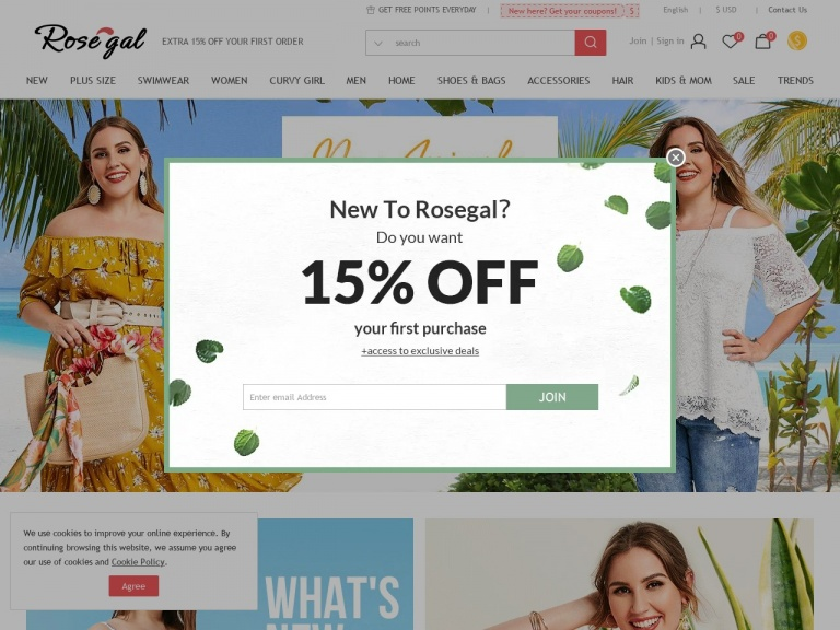 Rosegal-Rosegal- $30-$5,$50-$10, $80-$18 For Plus Girl Dress