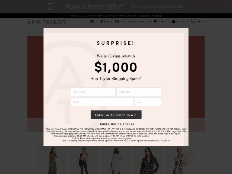 Ann Taylor-50% Off Select Full-Price Styles with co…