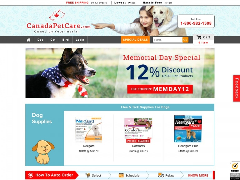 Canadapetcare-Memorial Day Special Deals. Cheapest Nex…