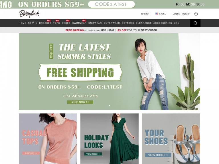BerryLook-Berrylook.com Season of Memories Shop Faves FREE shipping on orders $59+ With CODE:FAVES7