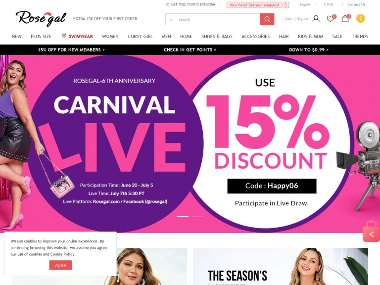 Rosegal-Rosegal-18% OFF Your Order With Coupon SALE01 Shop Now!