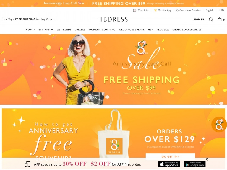 TBDress.com-Fashion Summer: Sale On Sale-12% off any order, code: SC12. Buy Now! Date:7/23-8/26