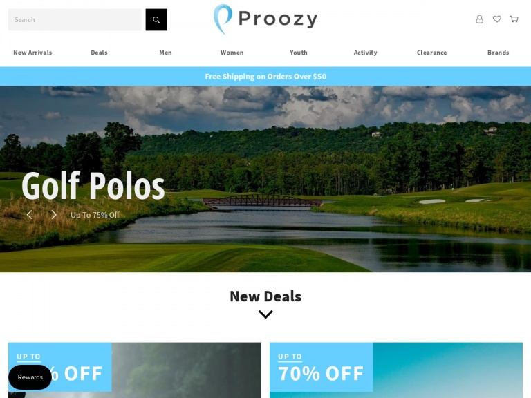 Proozy-PGA TOUR Men's Golf Polo 2 for $18