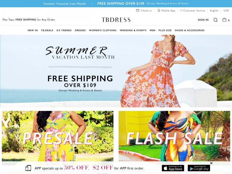 TBDress.com-TBdress Cheap-Activewear: 15% off over $10, Limited Time Only. code:ssww15. Shop Now! Date:8/1-8/7
