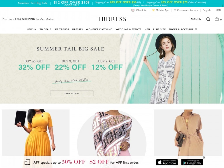 TBDress.com-TBdress Extra discount: $45 Off Over $309 Sitewide.  Buy Now! Date: 8/23-11/23