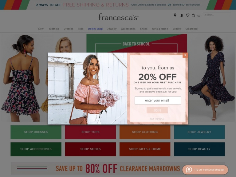 francesca's-francescas-Summer Sale – $30 Dresses, $20 Tops, and More!