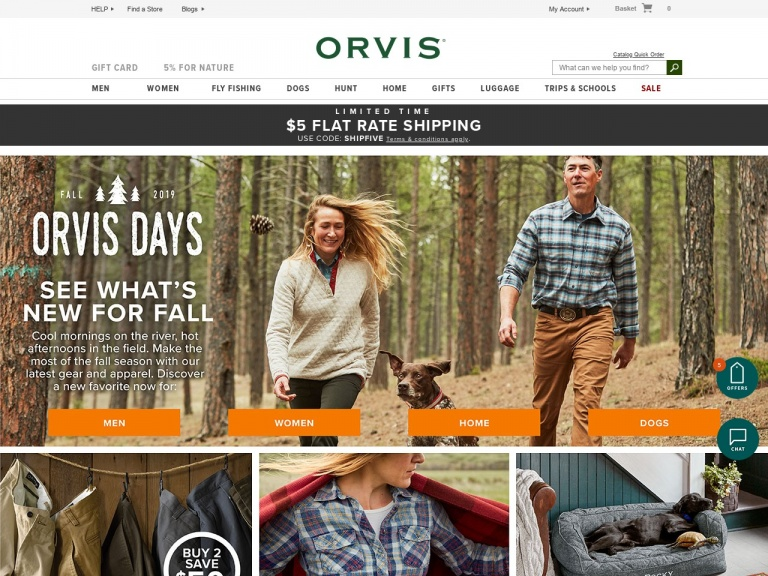 Orvis-$5 Flat Rate Shipping. Limited Time. Use…