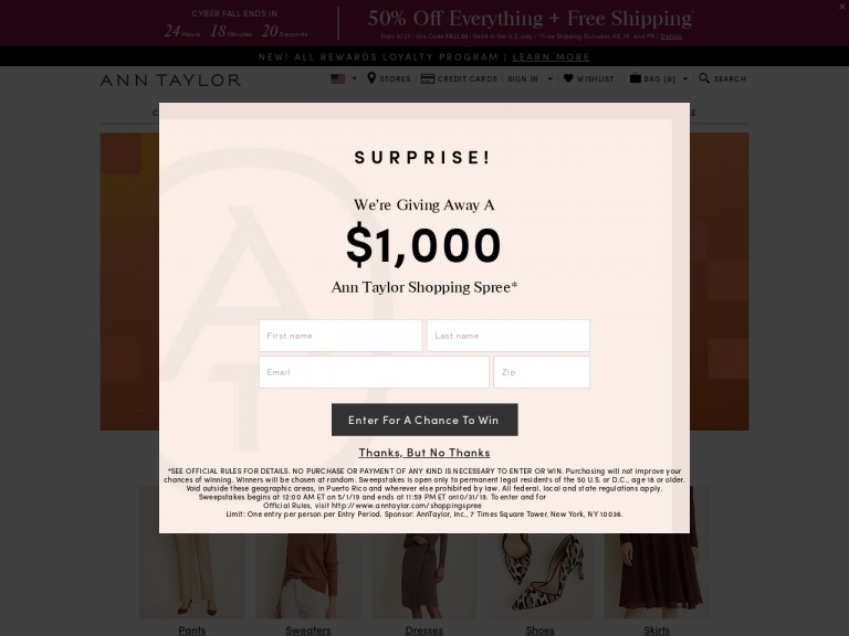 Ann Taylor-50% Off Everything Plus Free Shipping wi…