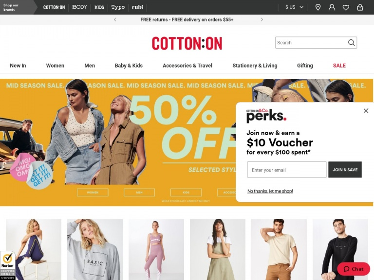 Cotton On (US)-Cotton On (US)-Online Exclusive! Extra 20% Off Sale (valid 9/29 – 10/1)!