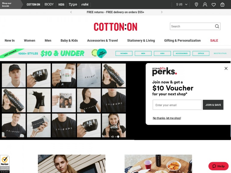 Cotton On (US)-Selected Styles $10 and Under at Cotton …