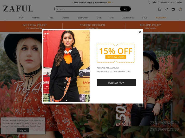 Zaful-Zaful-Get $5 Off For Any Two Clothes, $10 Off For Any Three Clothes, Shop At ZAFUL Enjoy The Big Discount!