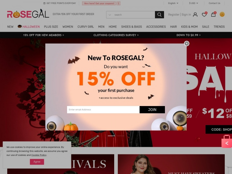 Rosegal-Rosegal- 15% Off
