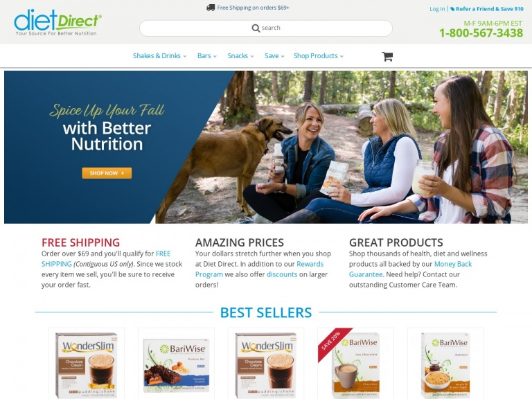 Diet Direct-Black Friday – 20% Off Sitewide!