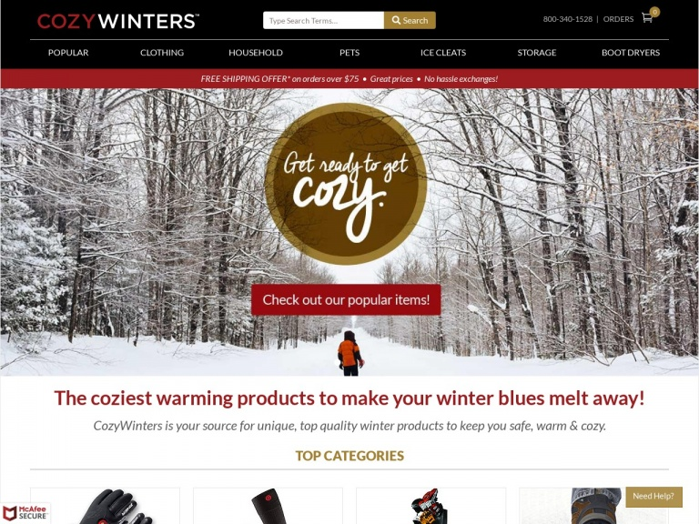 CozyWinters-Cyber Monday Deal- 12/1 – 12/3 Get 10% off orders of $150+ at CozyWinters.com. Use Coupon Code:  CYBER10